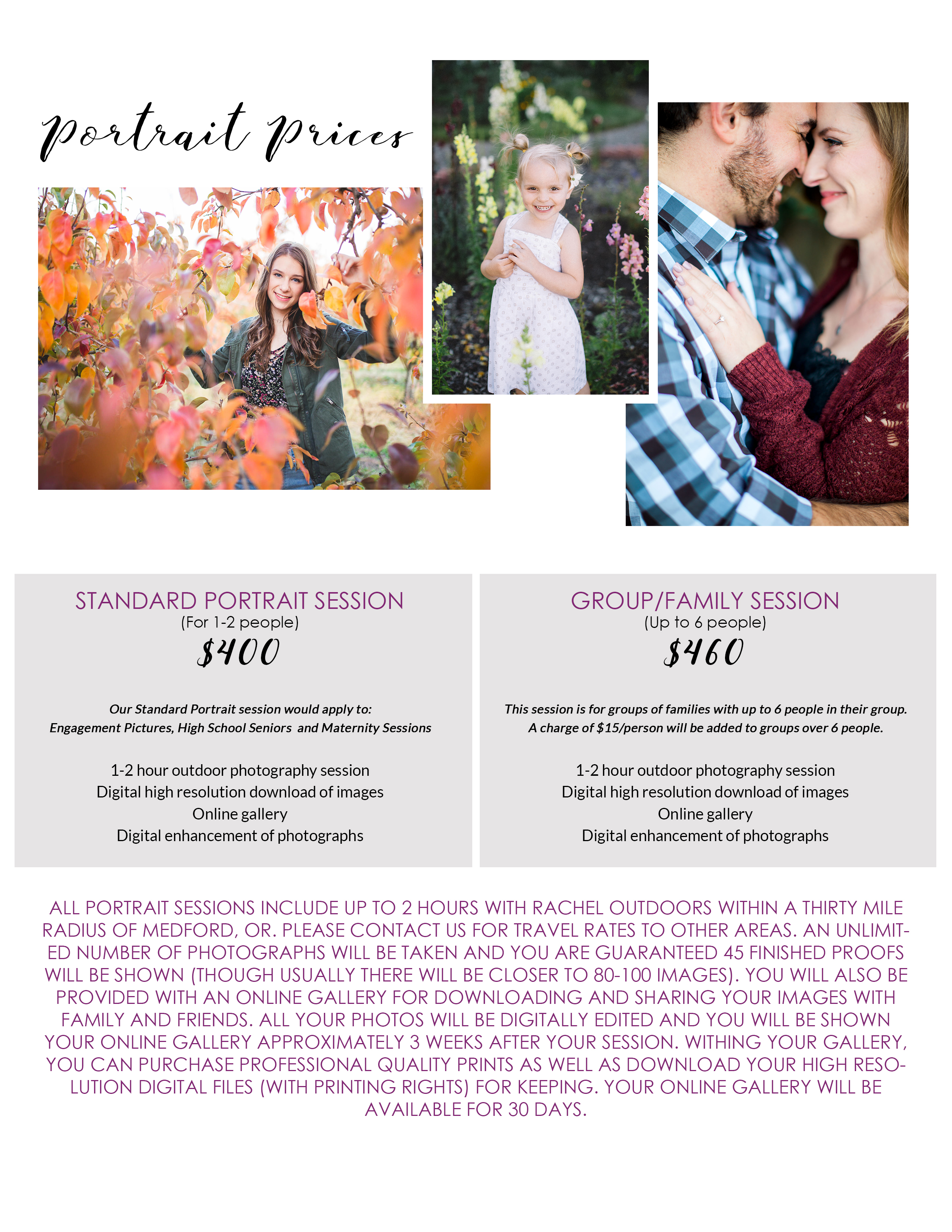 All pricing subject to change without notice unless you have signed agreement with pixy prints photography