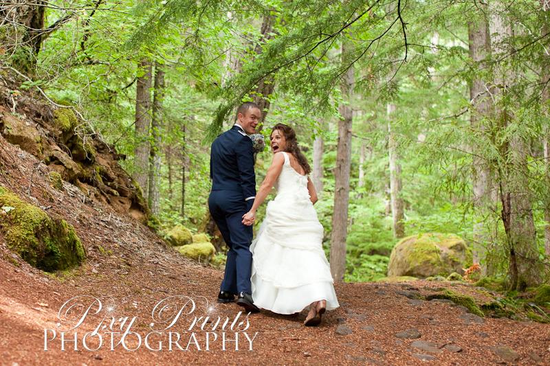 Oregon lake wedding