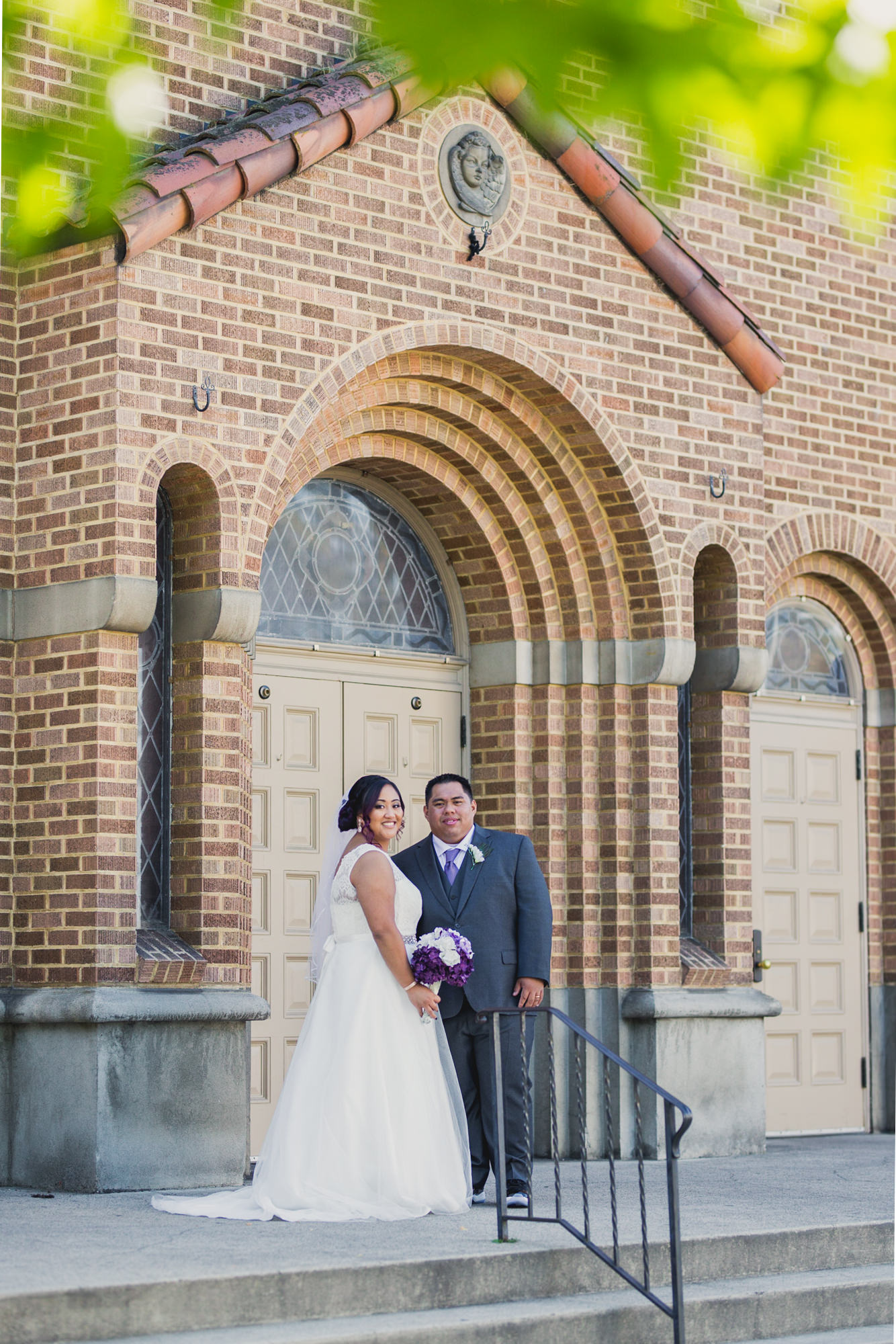 Wedding at the Sacred Heart Church in Medford, Oregon